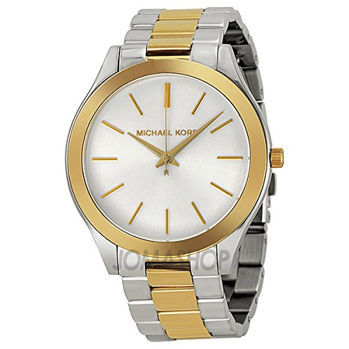 Michael Kors Michael Kors Slim Track Dial Silver Colour Stainless Steel Strap Watch MK3198 Unisex