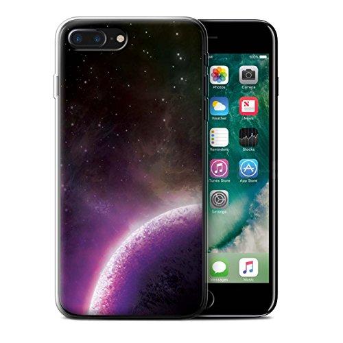 Stuff4 Gel TPU Hülle / Case für Apple iPhone X/10 / Lila Nebelfleck Muster / Weltraum Kollektion Lila Planet