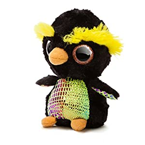Aurora World - pingüino de Peluche «Macaronee The Penguin YooHoo and Friends Sea Life» (pequeño, Negro/Amarillo/Naranja)