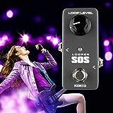 Lorenlli Fit KOKKO FLP2 LOOP MINI Looper SOS-Gitarre Loop-Pedal Looper-Effekte 5 Minuten Looping-Zeit Loop-Station Professionelle Gitarre