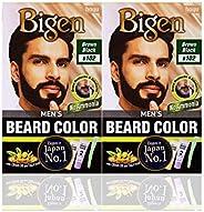 Bigen Men's Beard Color, (20g + 20g) Combo Offer Pack (2 Pc, B102 - Brownish Bl