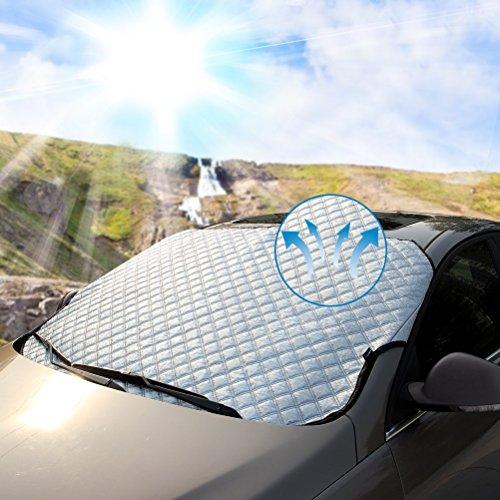 Couverture Pare-brise Voiture MATCC Bache Pare Brise Pare-soleil Anti Givre Compatible avec La Plupart des Véhicule Universel Vans Monospace