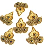 #8: 6 Beautiful Gold Colour Blouse Patches for Designing Blouse/Dress