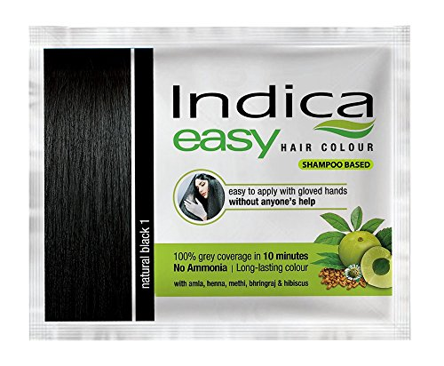 5 PC Indica easy10 Minuten Herbal Hair Color Shampoo Base schwarz Kräuter von omg-deal -