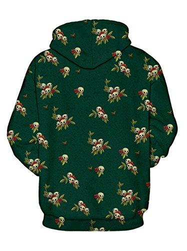 Nawoshow Unisex 3D Druck Kapuzenpullover Hoodie Sweatshirt Langarm Top Shirt Herbst Spaß Pullover für Männer und Frauen Girl