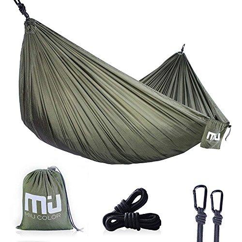 MIU COLOR Hängematte Hammock für Reise Camping Garten Trekking Strand Travel, Belastbarkeit bis 300 kg, 270 x 140cm