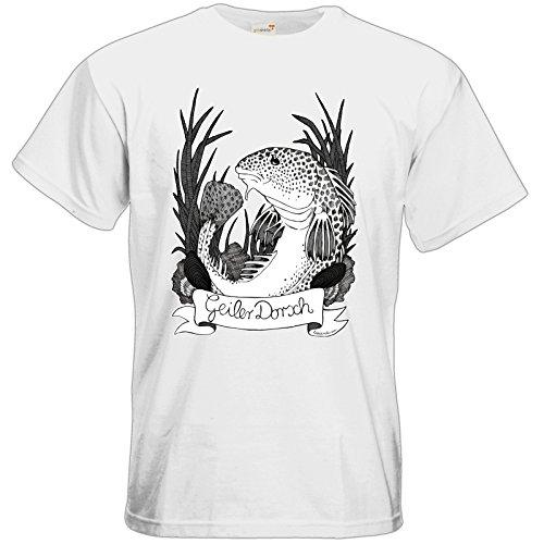 getshirts - Lexvandis - T-Shirt - Geiler Dorsch White