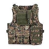 QWERBAN Camuflaje Caza Táctico Militar del Chaleco del Chaleco De Caza CS Equipo SWAT Equipo Al Aire Libre De La Selva (Color : Swamp)