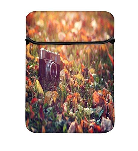 Snoogg Vintage Kamera 43,2cm einfachen Zugang Gepolstertes Laptop Schutzhülle Flip Sleeve Tasche