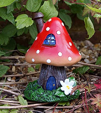 FAIRY HOME / TOADSTOOL/ HOUSE INCENSE BURNER - OR GARDEN DECOR by ukgiftstoreonline