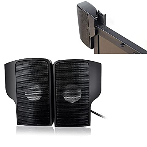aokur Ordinateur Enceintes, Mini Enceintes Haut Parleur Enceintes Portables Enceintes PC Speaker USB avec Fil Compatible Avec la Prise pour Ordinateur Acer / Samsung / Dell etc