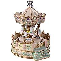 """Giostra carillon """"scalinata"""", finale argento 925°°° Diam cm 15x20h"""
