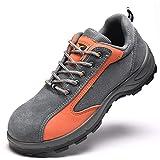 QZBAOSHU Femme Homme Outdoor Marche Nordique Chaussures 36 EU (Taille de l'étiquette 36) Gris + Orange
