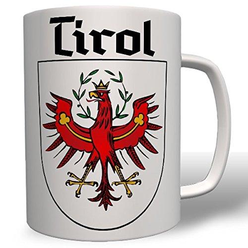 Tirol armoiries adler cadeau souvenir foyer rouge sud tirol tiroler autriche italie alpen abzeichen- montagnes tasse de voyage 7663 café