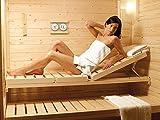 Luxus Sauna Wellnessliege Holzliege 224cm ergonomisch, individuell verstellbar