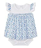 Petit Bateau Baby-Mädchen Kleid Robe Body MC 27421, Mehrfarbig (Ecume/Multico 37), 56 (Herstellergröße: 1m/54cm)