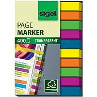 Sigel HN617 - Marcapáginas (400 hojas, 50 x 6 mm), varios colores