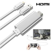 Nouvelle Version! Câble Adaptateur Lightning vers HDMI/HDTV AV TV Pour Apple iPhone 7 5 5 C 5S 6 6S 6 Plus (Argent)