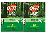 #2: Off Deep Woods Insect Repellent Wipes 20 Towelettes 2 Pack