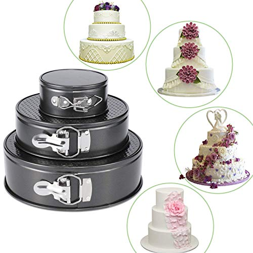 Luvina-Bakers-3-in1-Set-Cake-Mould-3-Tier-Round-Shape-Mold-Nonstick-Baking-Tray-Pan