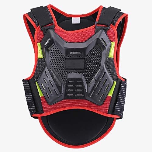 TZTED Damen Herren Snowboard Schutzkleidung Motorrad Rückenprotektor zum Umschnallen Rollschuhlaufen Motorrad,Red,S