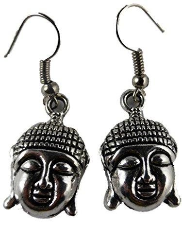 Ohrringe Ohrhänger Hänger messingfarben Gott Religion mystisch Buddha Buddhismus 7003