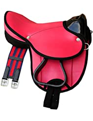 Frange De Selle Selle Little Billy, Kit complet aussi pour chevaux de bois–Couleur: Rose Shetty Kit pour poney ou ou Shetty bois cheval
