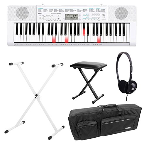 Casio-LK-247-Leuchttasten-Keyboard-Deluxe-SET-inkl-Kopfhrer-Stnder-Bank-und-Tasche