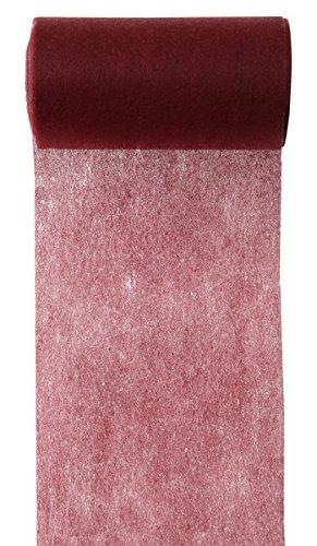 M 10 Läufer (Tischband 10cm schmaler Hochzeits-Tisch-Läufer Mitteldecke Vlies-Stoff einfarbig (Bordeaux))