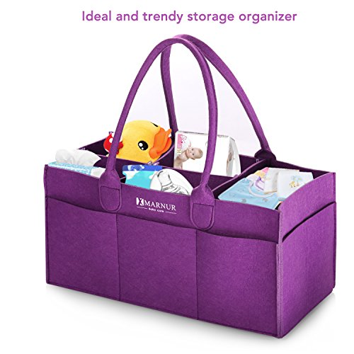 Baby Diaper Caddy Organiser Nursery Storage Bin for Clothes Nappy Large and Portable as Car Organiser for Travel Picnic Shopping