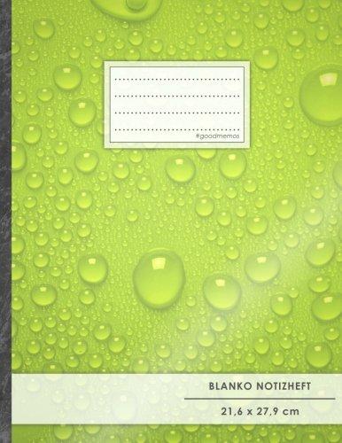 """Blanko Notizbuch • A4-Format, 100+ Seiten, Soft Cover, Register, """"Wassertropfen"""" • Original..."""