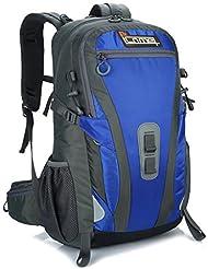 ICOME Ultraleichter Outdoor-Sport Rucksack,45L Trekkingrucksack +5L mehr Kapazität,Modernes Design für Damen, Herren und Kinder Wanderrucksack,ideal für Joggen, Camping, Fahrrad, Trekking oder Wandertouren