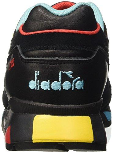 Diadora V7000 Little Italy, Pompes à plateforme plate homme Noir