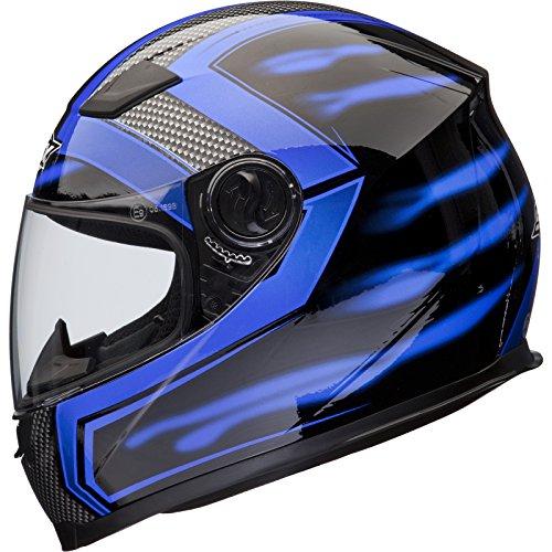Shox Sniper Skar Casque Moto Intégral XXL Bleu Securité