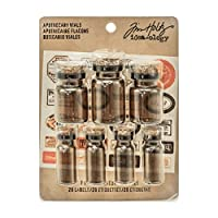 AdvantusIdea-Ology Corked Glass Vials-Apothecary Amber with Vintage Labels, Other, Multicoloured