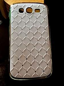 Hard Diamond coated back cover Samsung galaxy grand i9082 white