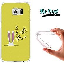Becool® Fun - Funda Gel Flexible Samsung Galaxy S6 Conejo Alicia en el pais de las maravillas.Carcasa TPU fabricada con la mejor Silicona, protege y se adapta a la perfección a tu Smartphone y con nuestro diseño exclusivo Dibujo