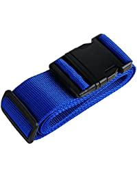 MyTrip Heavy Duty Extra Long Single Suitcase Travel Belt Luggage Strap (Blue)