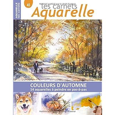 Les carnets aquarelle n°45: COULEURS D'AUTOMNE - 14 aquarelles à peindre en pas-à-pas
