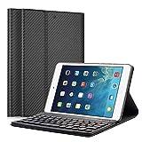 LUCKYDIY iPad Mini 1/2/3 QWERTY Italiano Layout Ultrathin Custodia con Supporto e Tastiera Bluetooth Staccabile per Apple iPad Mini 1/iPad Mini 2/iPad Mini 3