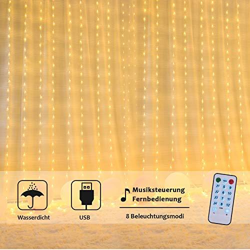 OUSFOT Cortina de Luces LED