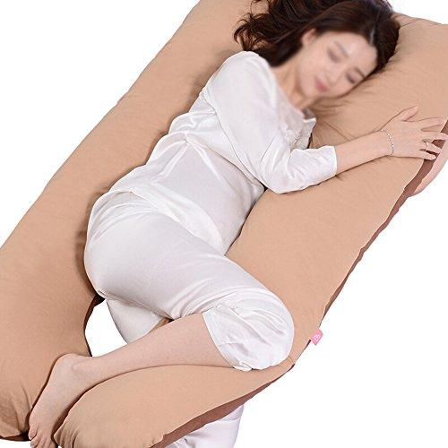 SPQRSXC Oreiller d'allaitement pour femmes enceintes, coussin de couchage pour soulèvement de l'estomac, oreiller pour dormir à la taille, coussin en forme de G, coussin de soutien pour dormir, lavabl