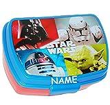 alles-meine.de GmbH Lunchbox / Brotdose -  Star Wars - Figuren  - Incl. Name - Brotbüchse Küche ..
