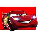 Disney Pixar Cars Ciudad de neones Rayo McQueen de invitación con forma de fiesta , 8 unidades
