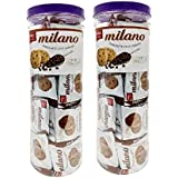 Parle Milano Chocolate chip Cookies jar (40 Packets of 12.5 Each * 2)