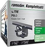 Rameder Komplettsatz, Anhängerkupplung Abnehmbar + 13pol Elektrik für VW Polo (145503-04804-1)