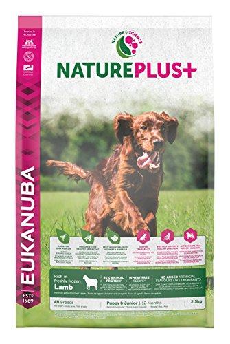 Eukanuba Nature Plus+ Cachorro y Junior Rico en cordero fresco congelado [2.3 kg]
