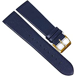 Copenhagen Manufacturer Replacement Watch Strap Calf Leather Band Dark Blue Match Skagen/Boccia 23098G Bridge Width: 20 mm