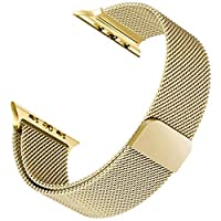 Microsonic Apple Watch 5 44mm Milanese Loop Version 3 Kordon Sarı