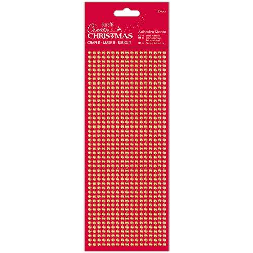 Papermania Create Christmas Adhesive Stones 1530/Pkg-Gold